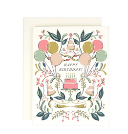 Amy Heitman Illustration Happy Birthday Cake Celebration Greeting Card