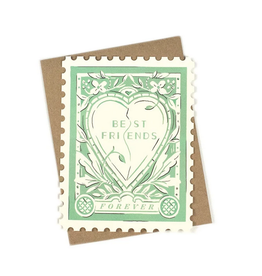 Amy Heitman Illustration Best Friends Forever Stamp Greeting Card