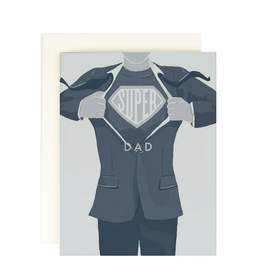 Amy Heitman Illustration Super Dad Greeting Card