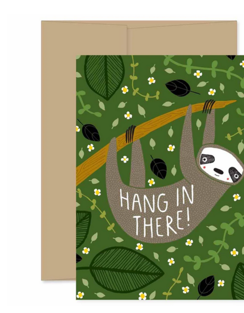 Gingiber Hang In There Sloth Greeting Card