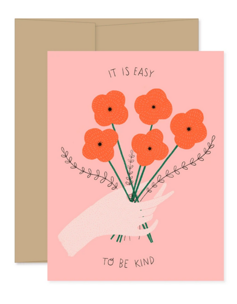 Gingiber It's Easy To Be Kind Bouquet Greeting Card
