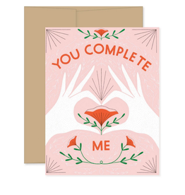 Gingiber You Complete Me Greeting Card