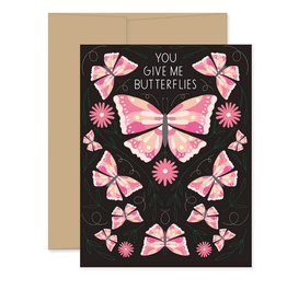 Gingiber You Give Me Butterflies Greeting Card