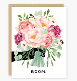 Boom. Bouquet Greeting Card