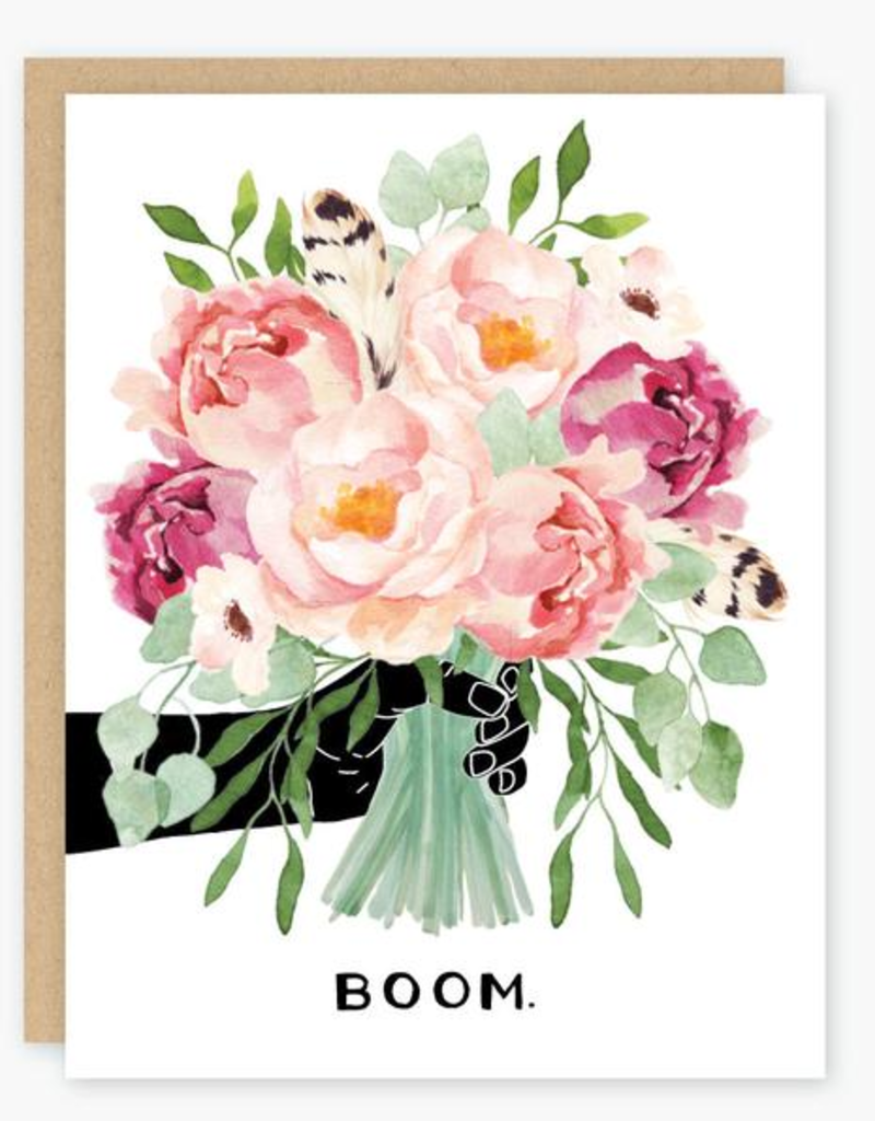 Party of One Boom. Bouquet Greeting Card