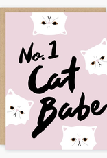Number 1 Cat Babe Greeting Card