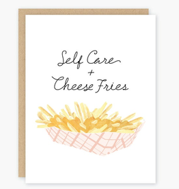 Party of One Self Care + Cheese Fries Greeting Card