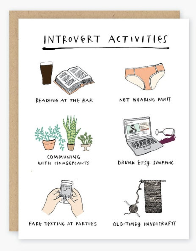 Party of One Introvert Activities Greeting Card