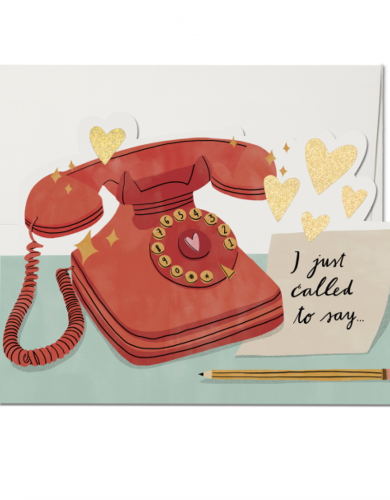 Red Cap Cards Just Called to Say...Greeting Card