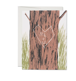 Red Cap Cards Me + You Tree Love Greeting Card