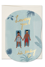 Loving You is Easy Pool Greeting Card