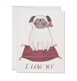 Pug I Love You Greeting Card