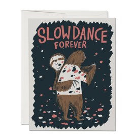 Slow Dance Forever Sloths Greeting Card