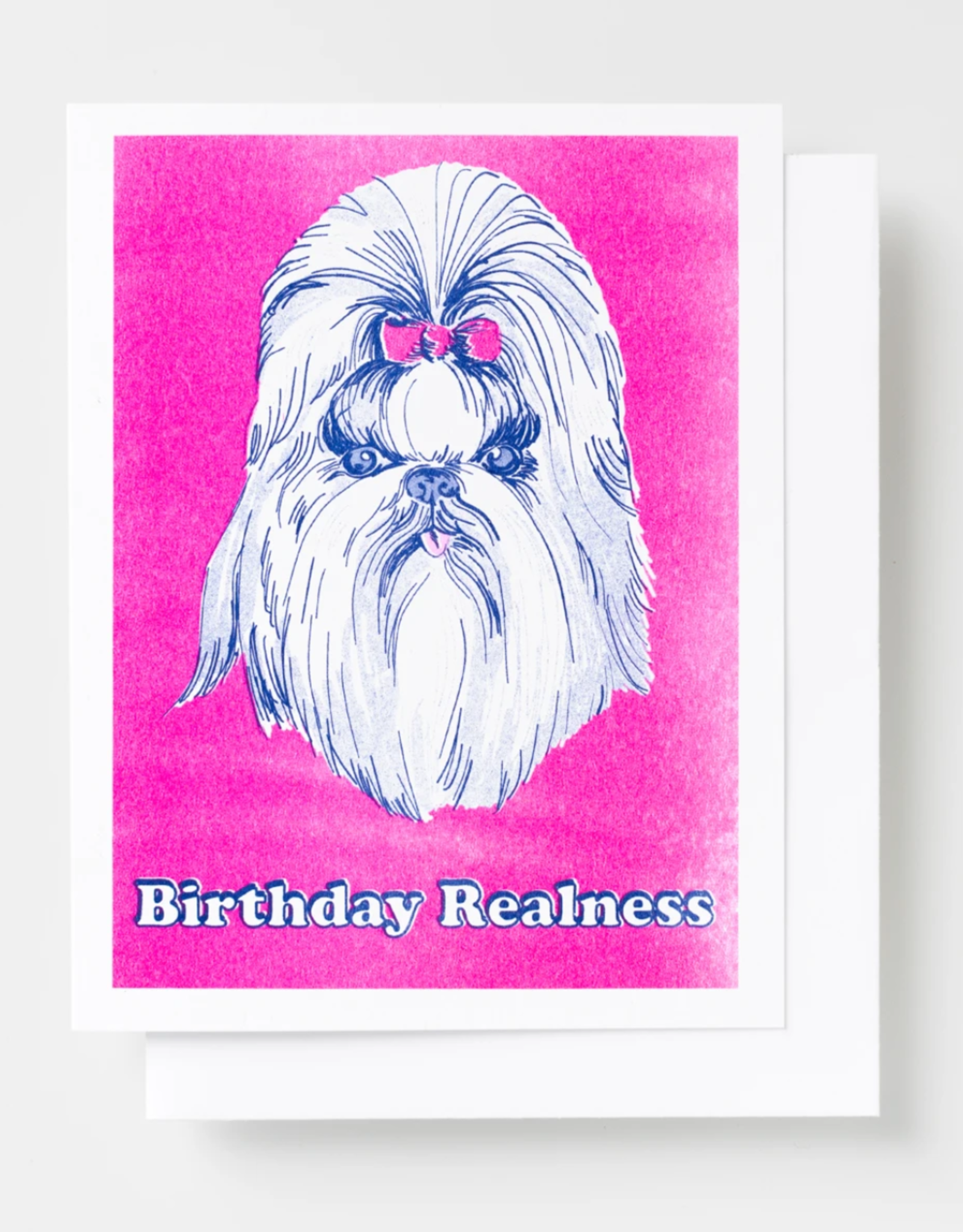 Birthday Dog Realness Riso Greeting Card