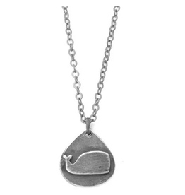 Figs and Ginger Whale in Teardrop Necklace