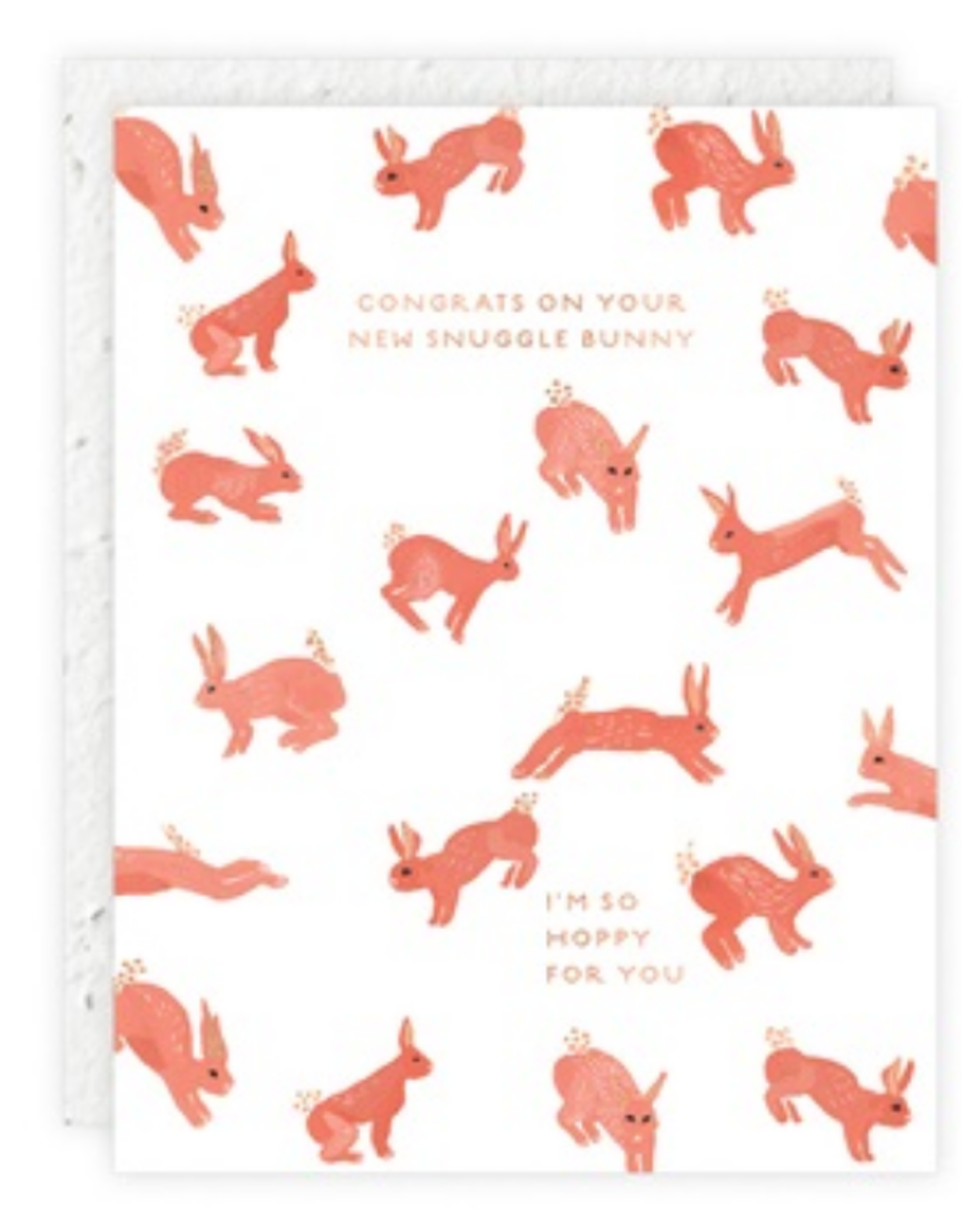 Congrats On Your New Snuggle Bunny Greeting Card