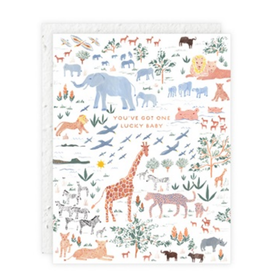 You've Got One Lucky Baby Jungle Greeting Card