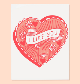 The Good Twin Co. I Like You Greeting Card