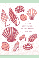 The Good Twin Co. I Like Long Walks On the Beach and You Greeting Card