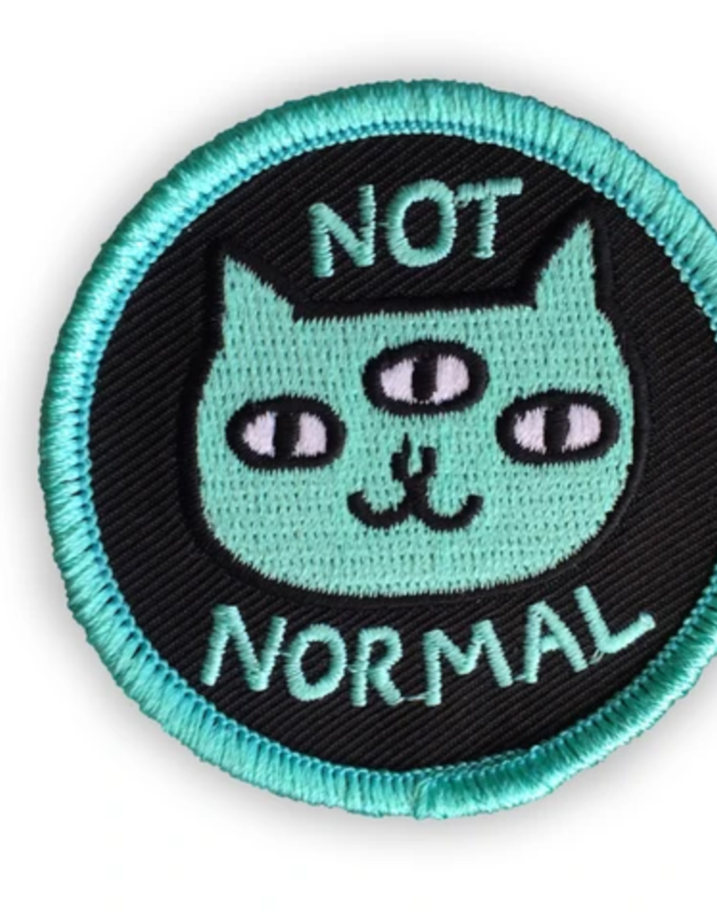 Badge Bomb Not Normal Cat Patch