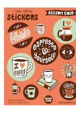 Badge Bomb Coffee Sticker Sheet
