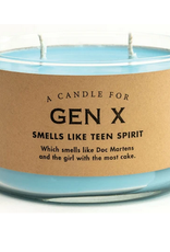 Whiskey River Soap A Candle for Gen X (Fresh Laundered Flannel Scented)