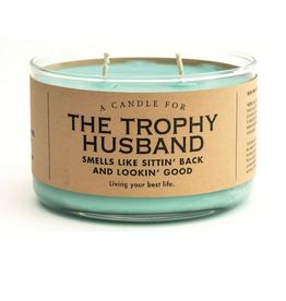 Whiskey River Soap A Candle for Trophy Husbands (New Car Scented)