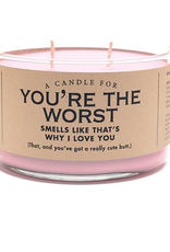 Whiskey River Soap A Candle for You're The Worst (Candy Hearts Scented)