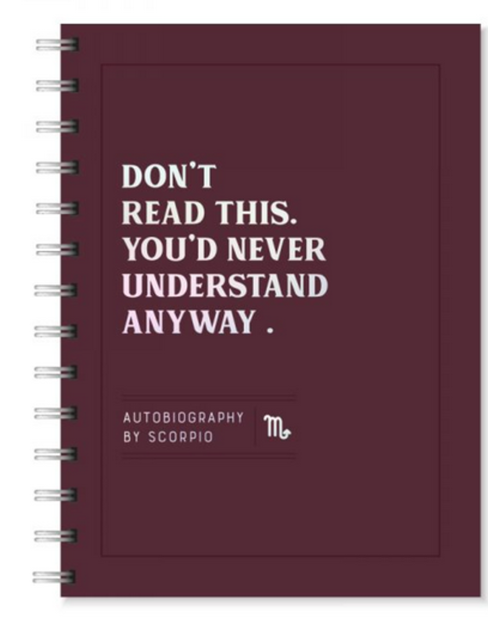 Scorpio Autobiography Journal