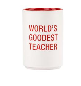 Hello World World's Goodest Teacher Pencil Cup