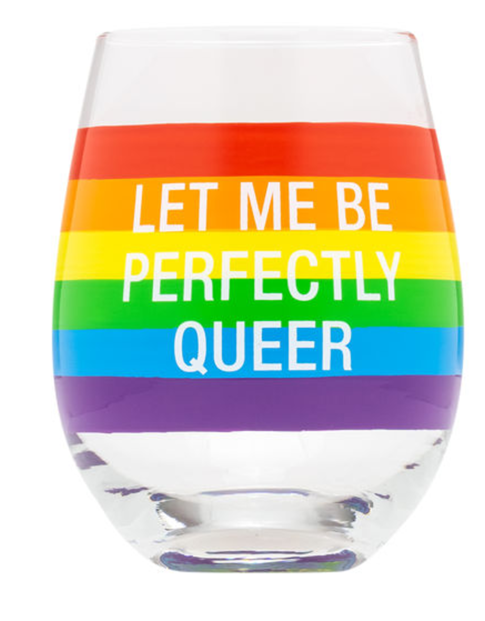 Hello World Let Me Be Perfectly Queer Stemless Wine Glass