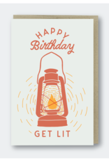 Get Lit Birthday Lantern Greeting Card