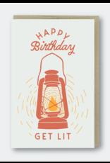 Pike Street Press Get Lit Birthday Lantern Greeting Card