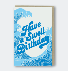 Pike Street Press Swell Birthday Greeting Card