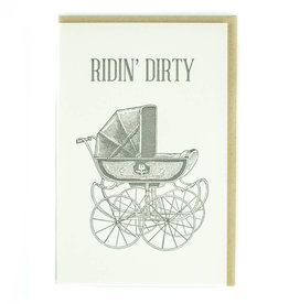 Ridin' Dirty (Stroller) Greeting Card