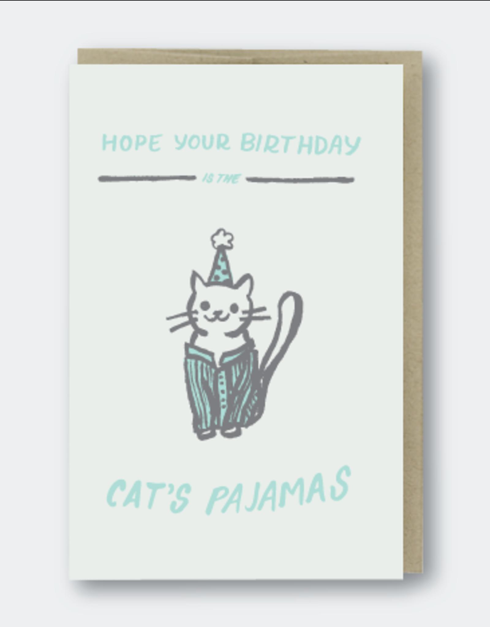 Cat's Pajamas Birthday Greeting Card