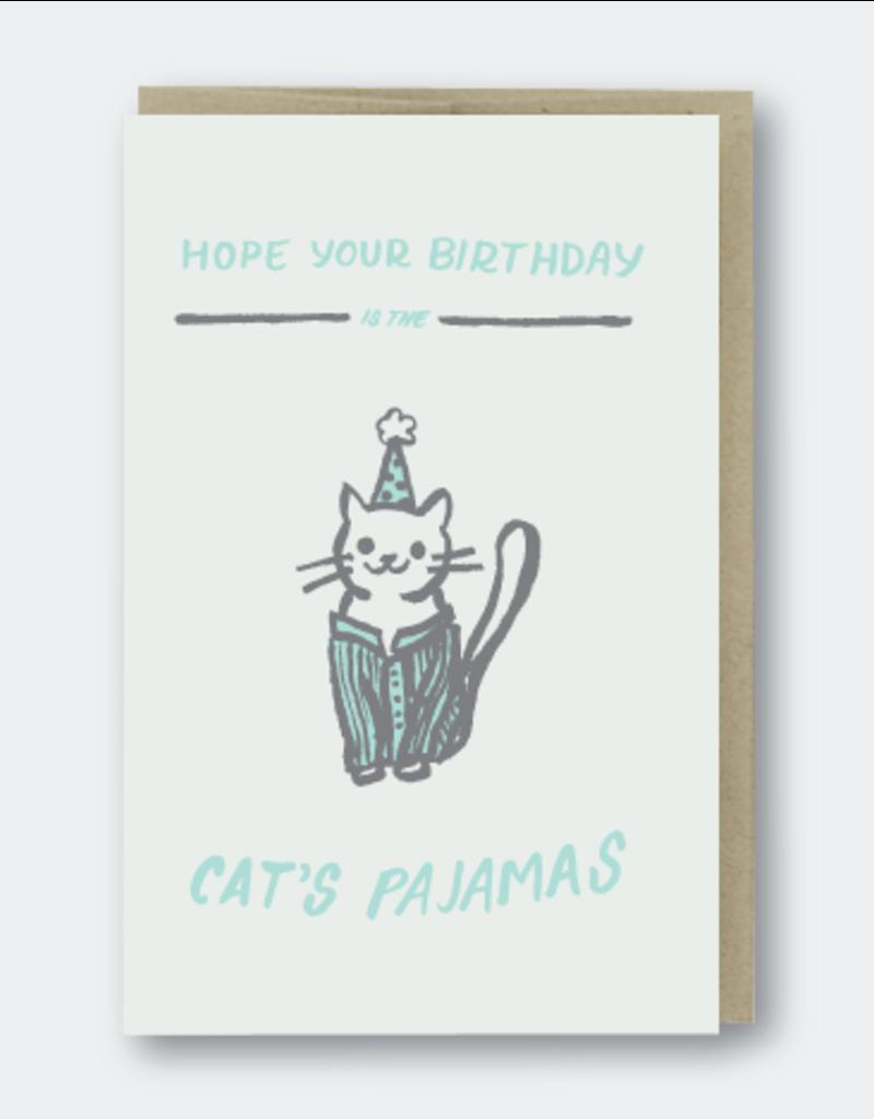 Pike Street Press Cat's Pajamas Birthday Greeting Card