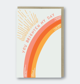 You Brighten My Day Greeting Card