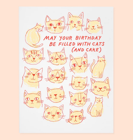 May Your Birthday Be Filled With Cats (And Cake) Greeting Card