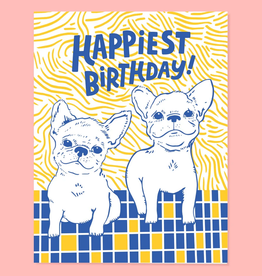 Happy Birthday Frenchie Greeting Card