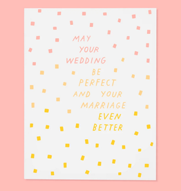 May Your Wedding Be Perfect Greeting Card