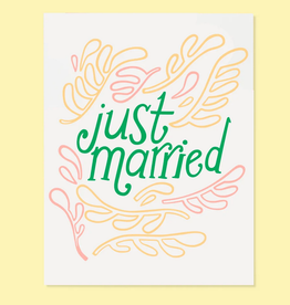 The Good Twin Co. Just Married Greeting Card