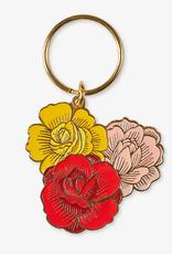 The Good Twin Co. Flowers Enamel Keychain