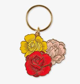 Flowers Enamel Keychain