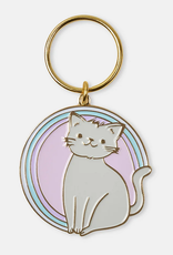 Kitty Enamel Keychain