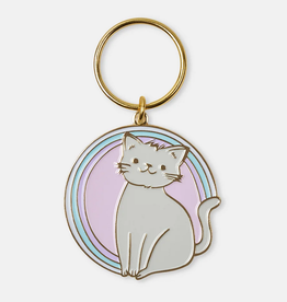 Kitty Enamel Keychain