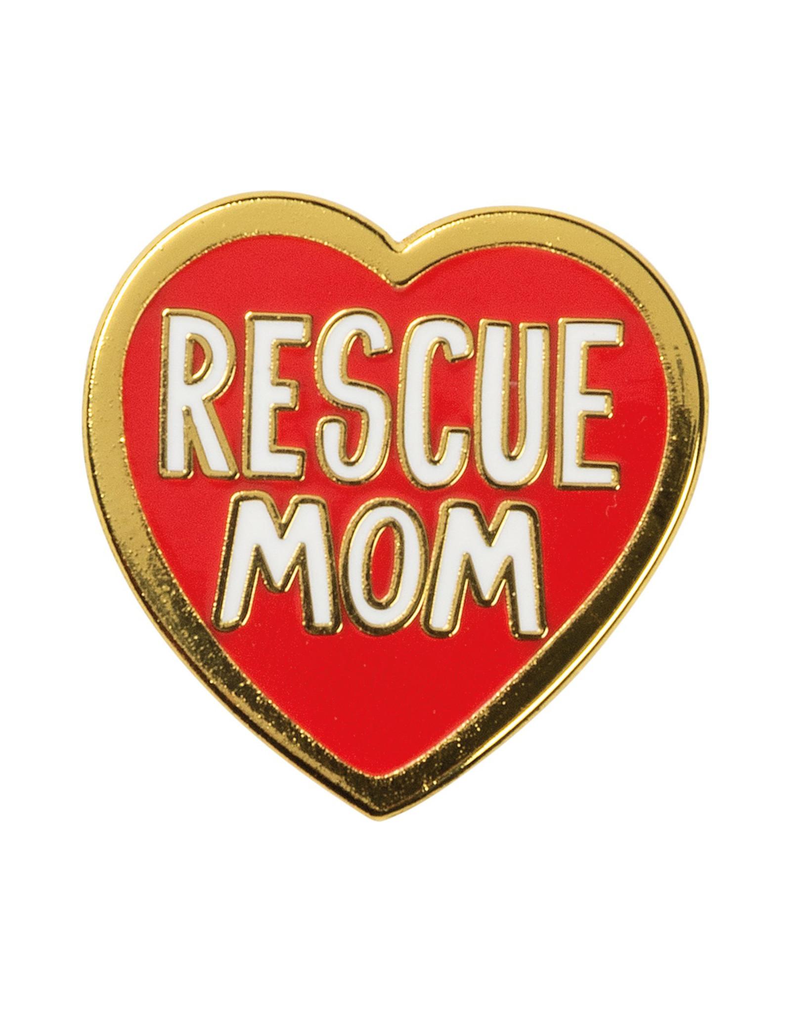 Rescue Mom Enamel Pin