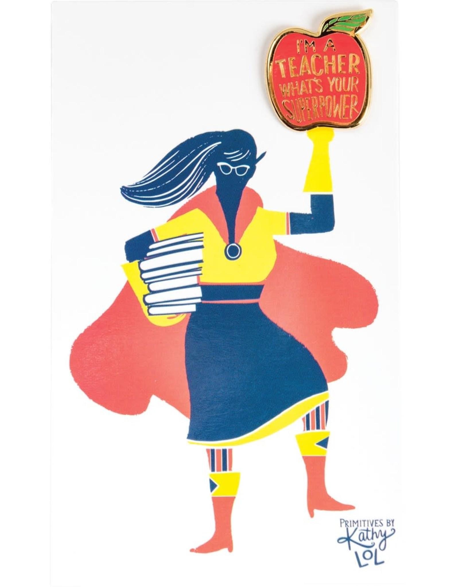 Teacher Superpower Enamel Pin