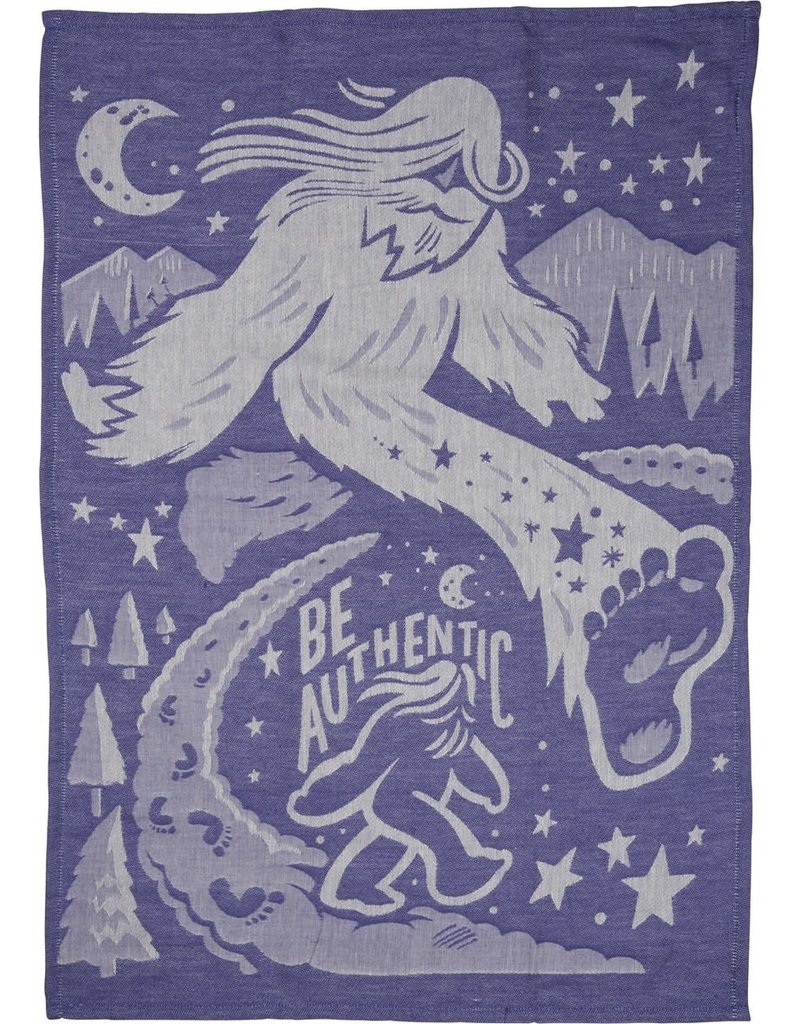 LOL Made You Smile Be Authentic (Big Foot) Dish Towel