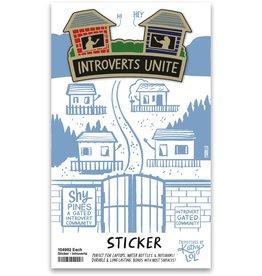 Introverts Sticker
